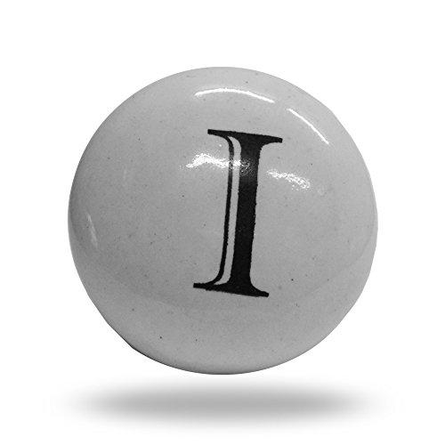Keramik Buchstabe I Schränke Alphabet Türknauf Schublade Pull & Griff (Keramik-blumen-pins)