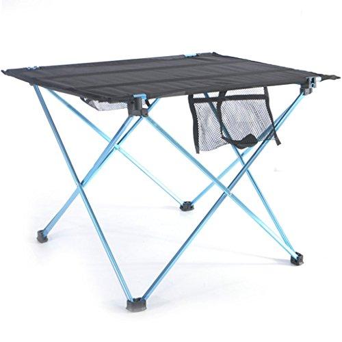 Klapptisch XUEP, Hohe Dichte Reißfest, rutschfest, Tragbarer Grill Picknicktisch Outdoor Camping Aluminiumlegierung 42 * 56 * 38cm (Color : Blue) -