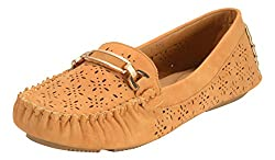 Flat N Heels Womens Tan Loafers - 6 UK