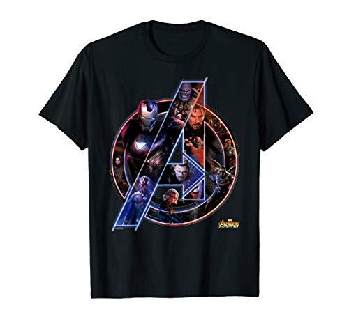 Marvel Avengers Infinity War Neon Team Graphic T-Shirt Infinity T-shirt