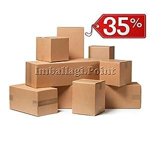 40 pezzi SCATOLA DI CARTONE imballaggio spedizioni 16x16x16cm scatolone avana