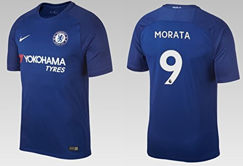 Trikot Kinder FC Chelsea 2017-2018 Home - Morata 9 (152) (Real Jersey Youth Madrid Home)