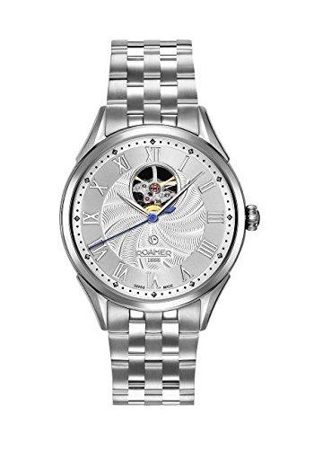 Roamer Reloj automático para Hombre con Esfera analógica y Plata Pulsera de Acero Inoxidable 550661412250