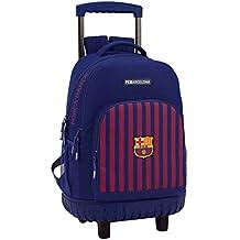 FC Barcelona Mochila Grande con Ruedas Carro Fijo, Trolley.