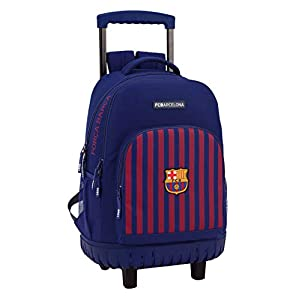 FCB FC Barcelona Mochila Grande con Ruedas Carro Fijo, Trolley.