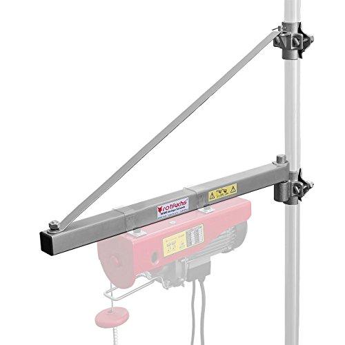 Rotfuchs Ausleger Schwenkarm 750 mm für Seilwinde Seilhebezug Seilzug Last 600 kg, Schwenkbereich ca. 180°