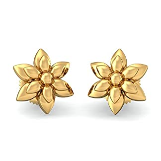 BlueStone 22k (916) Yellow Gold Anvita Stud Earrings for Women