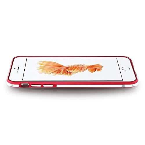 Dulaxie - Für Xiaomi 4 4s 5 Fall Highlight Ultra Thin Metallstoßaluminiumrahmenabdeckung für Sony Z3 Für Oppo R9 / R9 Plus für iPhone 6 / 6S [Rot   für iPhone 6] (4s Fall Otterbox Iphone)