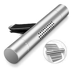 Idea Regalo - Deodorante per auto,Humixx Veicolo Aromaterapia Diffusore Purificatore d'aria Aroma con 3 Barre Profumate per Veicolo Office Travel da viaggio e altro (argento)