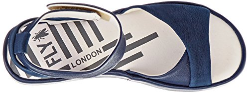 Fly London Bibb854fly, Sandali con Cinturino Alla Caviglia Donna Blu (Blue)
