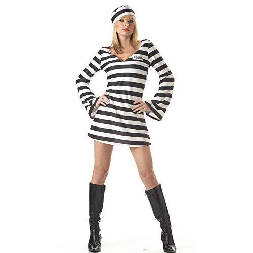 Yunfeng Hexenkostüm Damen Halloween Kostüm weibliche Gefangene Zombie Outfit Cosplay Kostüm einheitliche Leistung ()