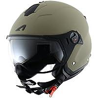 Astone Helmets MINISPORT-MARXL Minijet Sport - Casco de motocicleta, Verde Mate, XL