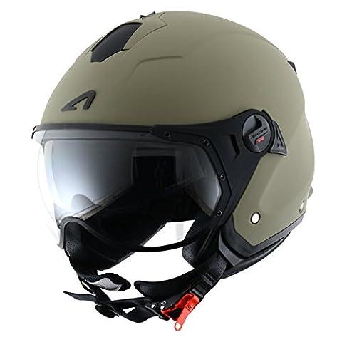 Astone Helmets Jet Mini Sports Helmet, Matt Army, M