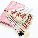 18pcs Pinceaux à maquillage Professionnel ensembles de brosses Pinceau en Poils de Chèvre Economique/Professionnel/Doux Bois/bambou