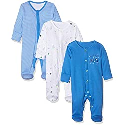 Mothercare Io B Little Space 3pk Sleeps Pijama, ((Bright Blue 478), 3-6 Months (Size:68) para Bebés