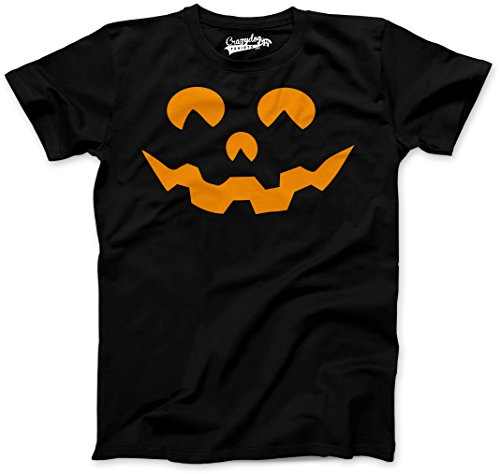 Crazy Dog Tshirts Youth Cartoon Eyes Pumpkin Face Funny Fall Halloween Spooky T Shirt (Black) XL - Jungen - - Halloween-cartoons Witze Lustige