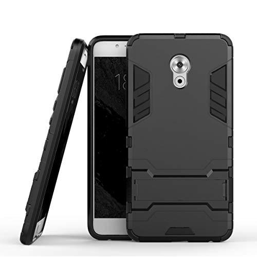tinyue® Handyhülle für Meizu Pro 6 Plus, Hülle 2 in 1 Material Harte Schwer doppelte kratzfester Handyfall im Freienhandyfall Iron Man Rüstung mit Kickstand Case, Schwarz
