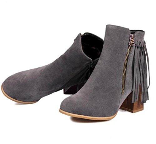 Primavera E Autunno Inverno Scarpe Casual Nappe Stivali Stivali Scarponi Gray