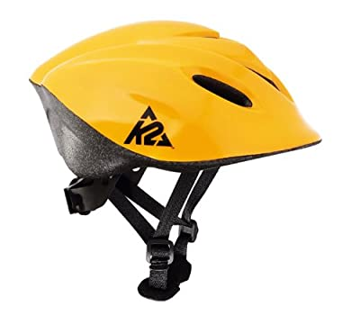 K2 Junior Helm gelb - Skater- Inliner- Ice- Fahrrad- Helm - Größe XS/S (48-52 cm)