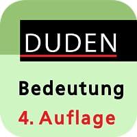 Duden – Das Bedeutungswörterbuch, 4. Auflage