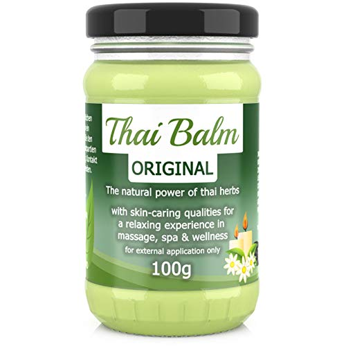 Wang Prom Naturals Thai Kräuter Balm Balsam Thai-Herbs 100g - Thailändischer Massage-Balm zur Hautpflege Massage Wellness