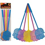 free uk post FLY BEE WASP BUG INSECT SWATTER ASSORTED COLOURS X 5