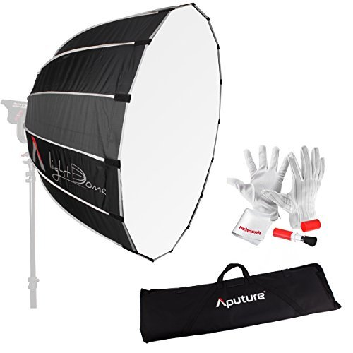 Aputure Light Dome 35 Inch Deep Octagon Softbox for Aputure COB 120D Aputure Light Storm COB 120t Godox AD600B AD600BM Flashpoint XPLOR 600 and Other Bowen-S Mount Lights with Carrying Bag and PERGEAR Clean Kit