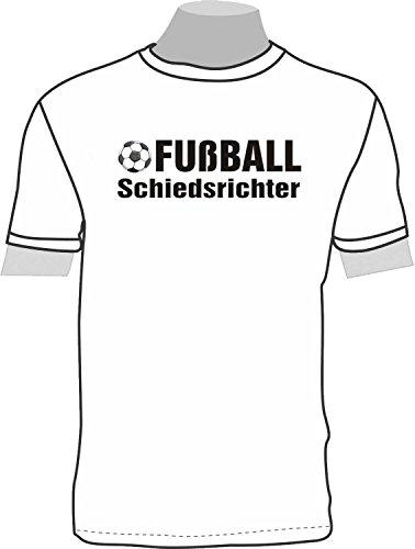 Fußball Schiedsrichter Kostüm - Fußball Schiedsrichter; Kinder T-Shirt weiß, Gr. 12-14