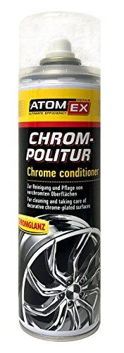 XADO cromo abrillantador de cromo de cuidado de cromo–Limpiador & Consejos de limpieza de superficies cromadas–AtomEx 500ml