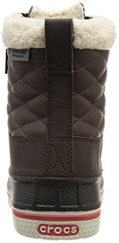 Crocs Allcast Waterproof Duck Boot W, Scarpe sportive, Uomo Marrone (Espresso/Red)