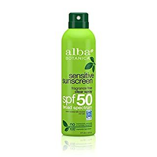 Alba Botanica Very Emolient Continuous Clear Spray Sunscreen SPF 50 - Fragrance Free, 6 ounce