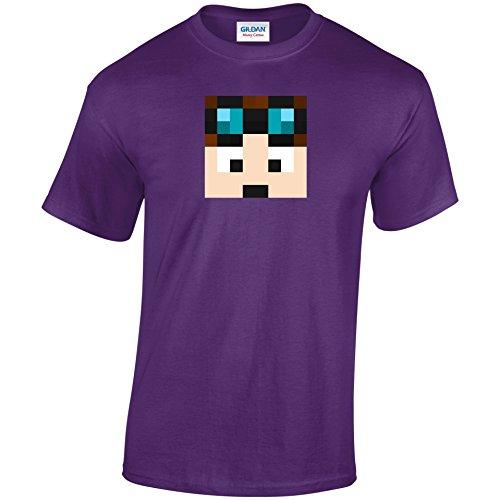 Dan TDM T-Shirt Erwachsene & Kinder Dan TDM Gamer Youtube Unisex Tshirt Violett - Violett