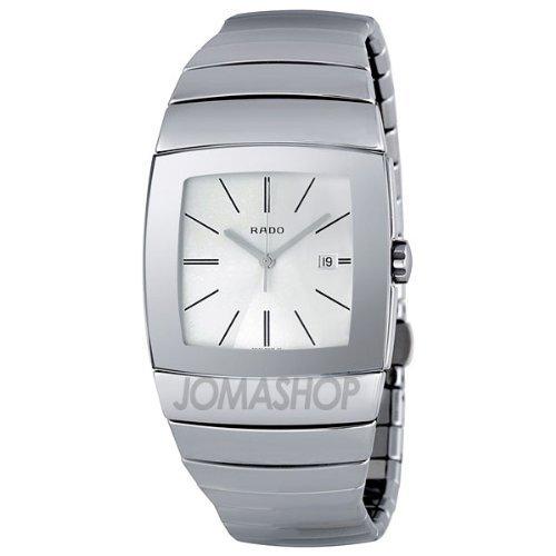Rado r13720122–Orologio da uomo, cinturino in ceramica colore argento