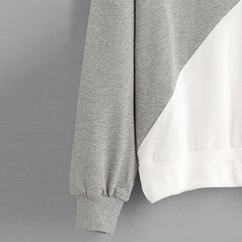 Felpa Donna con cappuccio , feiXIANG Donna moda manica lunga miscela del cotone Felpa con cappuccio maglione pullover top camicetta,S~XL Rosa
