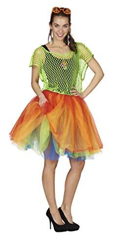 Andrea Moden 0056/9adultos Disfraz tutú, mujer, multicolor, One size
