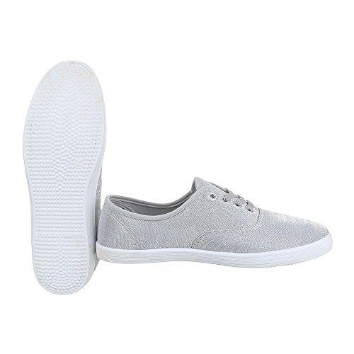 Ital-Design , chaussons d'intérieur femme gris argent
