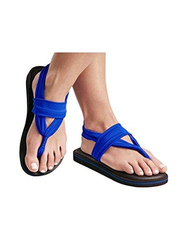 JOY COLORS Sandales Electrique Bleu Bleu