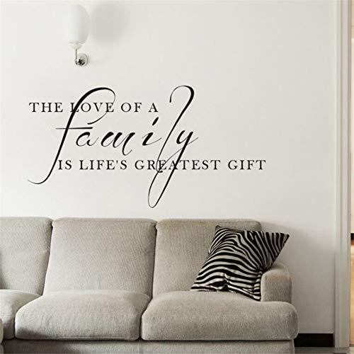t Wall Decal Die Liebe Einer Familie Ist Das Größte Geschenk Zitat Wand Aufkleber Home DecorFamily Wall Poster ()