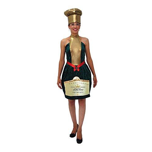 Unbekannt Aptafêtes–cu030924/46–48–Kostüm-Flasche Champagner in Größe 46/48