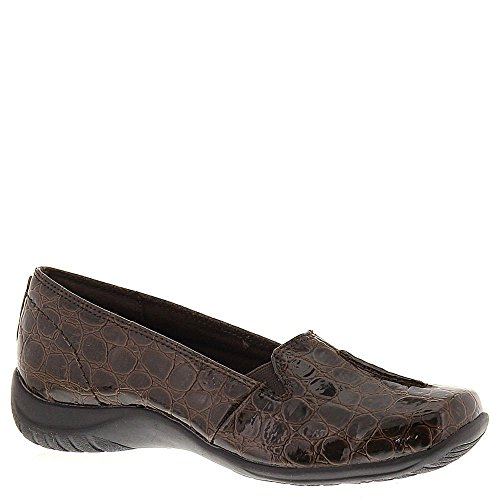 Easy Street Women's Purpose Slip-On,Black,10 W US Brown-crocodile-patent