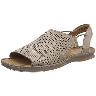 Clarks Women's Sarla Cadence Closed Toe Sandals, Grey Nubuck, 6.5 UK 6.5 UK