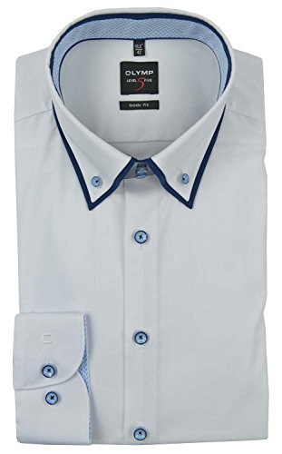OLYMP - Chemise business - Col Boutonné - Homme Weiß
