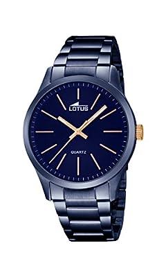 Lotus 18163/2 - Reloj de pulsera Hombre, Chapado en acero inoxidable, color Azul de Lotus