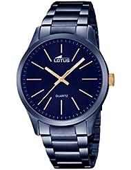 Lotus 18163/2 - Reloj de pulsera Hombre, Chapado en acero inoxidable, color Azul