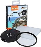 Rollei Extremium Rundfilter UV 82 mm - UV Filter und Schutzfilter mit Titan-Ring aus Gorilla Glas mit spezieller Beschichtung - Größe: 82 mm