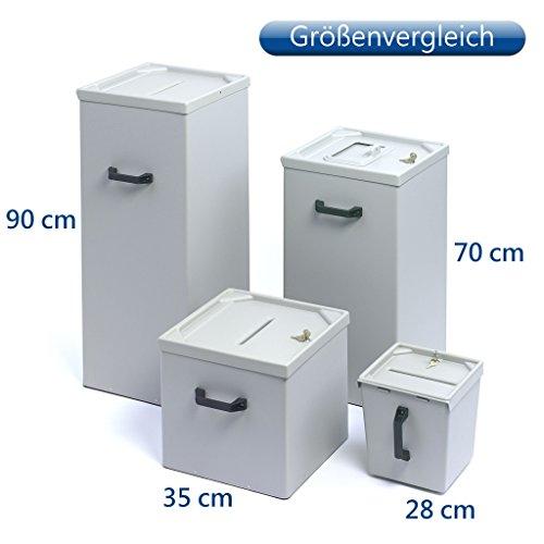 Wahlurne -klein- aus Kunststoff, 35 cm, mit integriertem Schloss