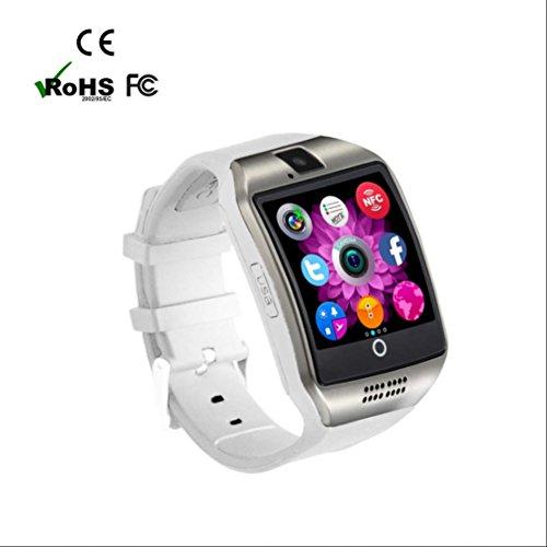 Halloween Kostüme Android (Sport Armbanduhr Activity Tracker mit SIM Kartenslot Schlafüberwachung Schrittzähler Armband Kalorienzähler Smart Sport Watch Bluetooth Smart Uhr SMS Anrufe Reminder für Android)