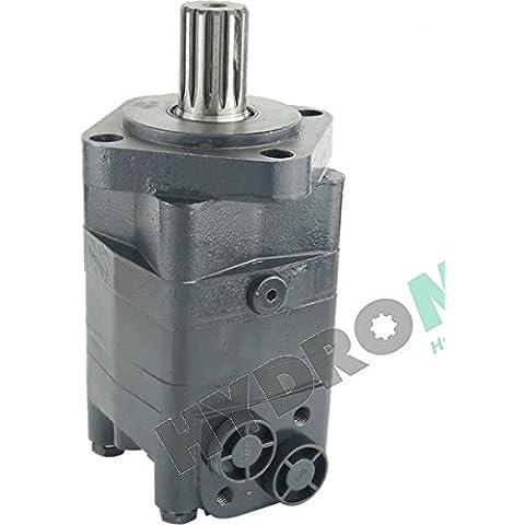 Motore idraulico (idrauliche motor) CPMS_SH, albero con meccanismo dentato (scanalato shaft) 31,75 mm, 4-buco flangia SAE (4-hole flangia SAE), collegamenti (connettori) 1,27 cm, allarme spostamento (selectable spostamento)