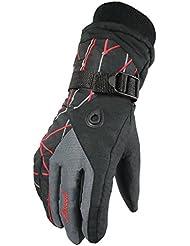 Dulce hogar invierno impermeable/a prueba de mujeres dedo completo ciclismo guantes de esquí con forro polar, Mujer, color Gris - Deep Grey, tamaño talla única