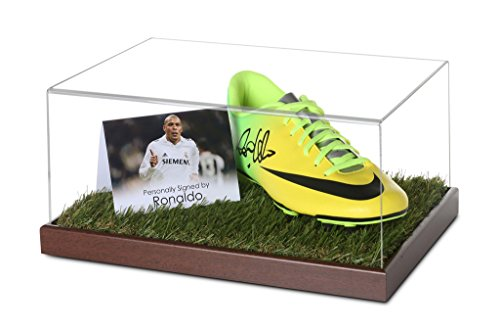 Price comparison product image Ronaldo Signed Football Boot Display Case Real Madrid Autograph Memorabilia COA